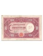 500 Lire Tipo Barbetti - [ 1] …-1946 : Regno