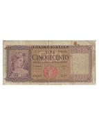 500 Lire - Italia Ornata Di Spighe - [ 2] 1946-… : République