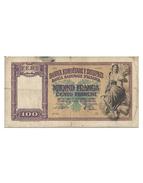 100 Franchi - Regno D'Italia E Albania - Banca Nazionale D'Albania - [ 6] Colonies