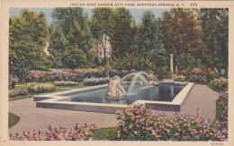 New York Saratoga Springs Italian Rose Garden In City Park Curteich - Saratoga Springs