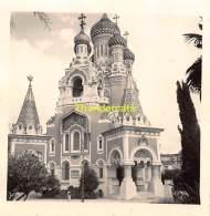 ANCIENNE PHOTO AMATEUR VINTAGE   6 Cm X 6 Cm L'EGLISE RUSSE NICE - Lieux