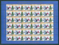 Greenland. Christmas Seal  Unfolded 2003 MNH Full Sheet. Church,Tree,Minister. - Greenland
