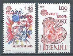 France YT N°2085/2086 Europa 1980 Personnages Célèbres Neuf ** - France