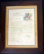 Lettera Autografo E Acquerello Originale Uniformi - Pittore Quinto Cenni - 1903 - Autographs