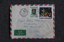 Lettre De MADAGASCAR Vers TOURS - Madagascar (1960-...)