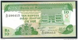 MAURITIUS  : 10 Rupees- 1985 - P35 - UNC - Mauritius