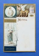 Menu Liebig - Serie 45 - C Sanguinetti - Edipo E La Sfinge - Ed. Inglese - 1897 - Menus