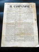 Storia Locale Torino Giornale Satira - Il Campanone - N. 263 / 1856 - Libri, Riviste, Fumetti