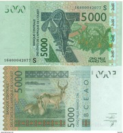 GUINEA  BISSAU   New  5'000 Francs CFA  Issued 2016  UNC - Guinea-Bissau