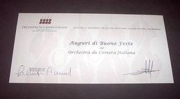 Autografo Biglietto Auguri Salvatore Accardo E Alessandro Tantardini Cremona - Autographes