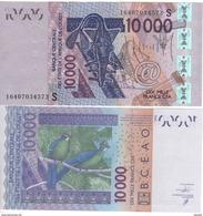 GUINEA  BISSAU   New  10'000 Francs CFA  Issued 2016  UNC - Guinea-Bissau