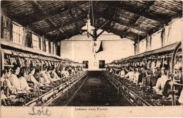 INTERIEUR D'UNE FILATURE ,BEAU PLAN ANIME    REF 54158 - Industrie