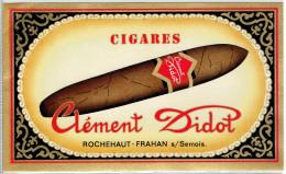 Rochehaut Sur Semois Frahan Sur Semois PUB Cigares Clément Didot - Publicités