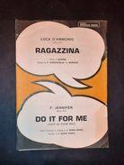 """Musica Spartiti - """"Ragazzina"""" (D'Ammonio) E """"Do It For Me"""" (Jennifer)- 1976 C.a - Vecchi Documenti"""