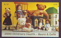 NZ - 2000 Children's Health - Teddy Bears And Dolls S/s - Mint** - Nuova Zelanda
