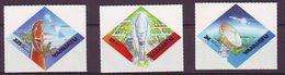 "VU - 2000 World Stamp Exhibition ""EXPO 2000"" - Anaheim, USA - Satellite Communications - Self-Adhesive 4V - Mint** - Vanuatu (1980-...)"