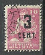 LITHUANIA Litauen 1922 Michel 157 O - Lituanie
