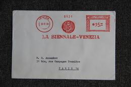 Lettre LA BIENNALE VENEZIA - Machine Stamps (ATM)