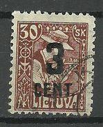 LITAUEN Lithuania 1922 Michel 160 O - Lithuania