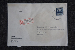 Lettre Recommandée De SUEDE à PARIS - Lettres & Documents