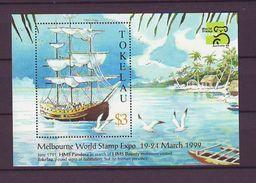 "TK - 1999 International Stamp Exhibition ""AUSTRALIA '99"" - Melbourne, Australia - History Of Seafaring S/s - Mint** - Tokelau"