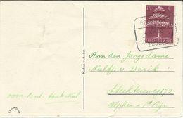 BLOKSTEMPEL - Groningen - Zwolle 4.X 1943 B. Postcard - Tjonge,dat Smaakt Lang Niet Slecht ! - Poststempels/ Marcofilie