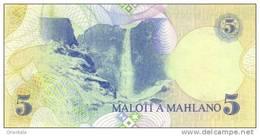 LESOTHO P. 10a 5 M 1989 UNC - Lesotho