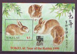 TK - Year Of The Rabbit/IBRA '99 (ss)  - Mint** - Tokelau