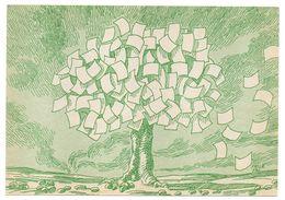 Illustrateur  FRILE Jac  --  Arbre à Feuilles En Papier --- Carte En Papier Recyclé - Illustrateurs & Photographes