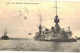 CPA N°14528 - LOT DE 2 CARTES LE BRUIX CROISEUR CUIRASSE + ARBALETE CONTRE TORPILLEUR - Warships