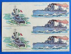 Gioco Carta - Sottomarino E Torpediniera - Ed. Cartoncino - Tav. 23 - Giocattoli Antichi