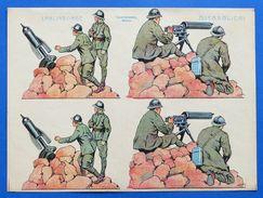Gioco - Soldatini Carta - Lanciabombe E Mitraglieri - Ed. Cartoncino - Giocattoli Antichi