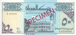 SUDAN 50 DINARS 1992 P-54a With Artis Name DESOUGI  SPECIMEN UNC */* - Sudan