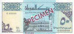 SUDAN 50 DINARS 1992 P-54a With Artis Name DESOUGI  SPECIMEN UNC */* - Soudan