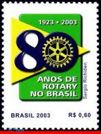 Ref. BR-2878 BRAZIL 2003 ROTARY, 80 YEARS,, MI# 3295, MNH 1V Sc# 2878 - Brazil