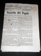 Risorgimento Cavour Torino - Giornale Gazzetta Del Popolo N° 207 Del 1854 - Books, Magazines, Comics