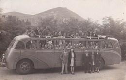 Carte Photo :  Autocar Transport De Touristes Aout 1947 Excursion à Gavarnie (65) - Auto's