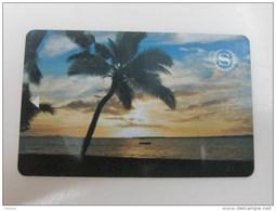Sheraton,Palm Tree On Beach - Hotel Keycards