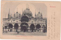 263 - VENEZIA FACCIATA DELLA BASILICA DI S MARCO ANIMATA 1910 CIRCA - Venezia (Venice)