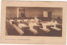 264 - MORBELLI ANGELO IL NATALE DEI RIMASTI OSPIZIO 1924 - Peintures & Tableaux