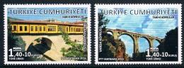 YA0527 Turkey 2016 Modern Building Railway Bridge 2 Full 0213 - 1921-... Republic