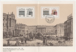 DDR 1985 Ersttagsblatt Mi:2980/2981 275 Jahre Berliner Charité; 175 Jahre Humboldt Universitat - [6] República Democrática