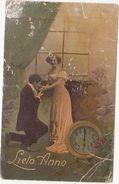 278 - COPPIA INNAMORATI LIETO ANNO 1914 - Nouvel An