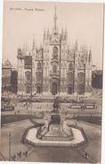 279 - MILANO PIAZZA DUOMO ANIMATA TRAM 1920 CIRCA - Milano (Milan)