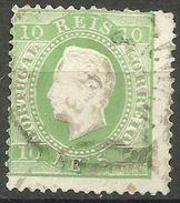 Portugal - 1880 King Luis 10r Green Used  SG 158    Sc 37b - 1862-1884 : D.Luiz I
