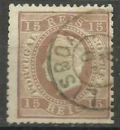 Portugal - 1870+ King Luis 15r Brown Used  SG 74    Sc 38 - Used Stamps
