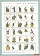Faroe Islands. Christmas Seal  Unfolded 1997 Full Sheet. Perforation 3 Sides - Unclassified