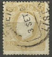 Portugal - 1870 King Luis 20r Bistre Used  SG 75    Sc 39 - Used Stamps