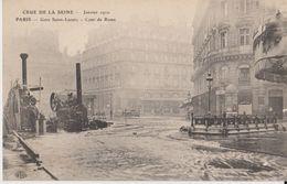 Crue De La Seine - Janvier 1910 - Paris - Gare Saint-Lazare - Cour De Rome - ELD - Arrondissement: 08