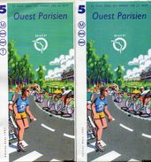 2 PLANS RESEAU RATP  M BUS RER  Ouest Parisien  *MARS 1995 *AOUT 1997 - Europe